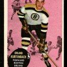 BOSTON BRUINS ORLAND KURTENBACH ROOKIE CARD RC 1961 TOPPS # 15 NR MT