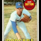 LOS ANGELES DODGERS DON SUTTON 1969 TOPPS # 216 VG