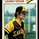 SAN DIEGO PADRES JOHNNY GRUBB 1977 TOPPS # 286 EX