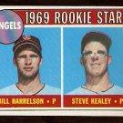CALIFORNIA ANGELS ROOKIE STARS  BILL HARRELSON STEVE KEALEY 1969 TOPPS # 224 EX+