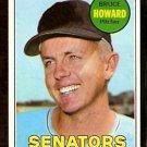 WASHINGTON SENATORS BRUCE HOWARD 1969 TOPPS # 226 VG