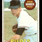 SEATTLE PILOTS STEVE BARBER 1969 TOPPS # 233 fair/good