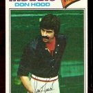 CLEVELAND INDIANS DON HOOD 1977 TOPPS # 296