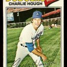 LOS ANGELES DODGERS CHARLIE HOUGH 1977 TOPPS # 298 VG