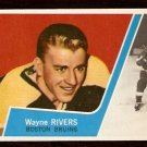 BOSTON BRUINS WAYNE RIVERS ROOKIE CARD RC 1963 TOPPS # 17 NM