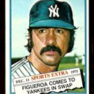 NEW YORK YANKEES ED FIGUEROA 1976 TOPPS TRADED # 27T EX