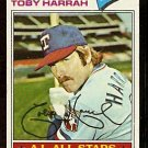 TEXAS RANGERS TOBY HARRAH 1977 TOPPS # 301