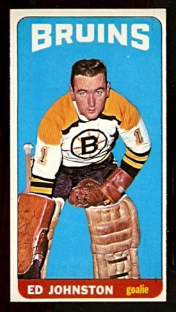 BOSTON BRUINS ED JOHNSTON 1964 TOPPS # 21 EX+/EM