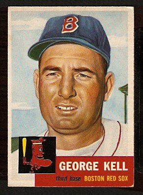 BOSTON RED SOX GEORGE KELL 1953 TOPPS # 138 VG/EX