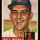 BOSTON RED SOX BILL WERLE 1953 TOPPS # 170 VG