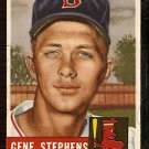 BOSTON RED SOX GENE STEPHENS 1953 TOPPS # 248 VG
