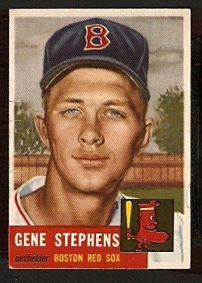 BOSTON RED SOX GENE STEPHENS 1953 TOPPS # 248 VG