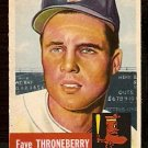 BOSTON RED SOX FAYE THRONEBERRY 1953 TOPPS # 49 VG+