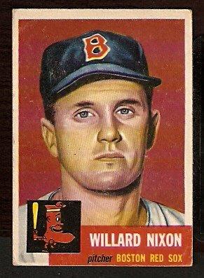 BOSTON RED SOX WILLARD NIXON 1953 TOPPS # 30 good