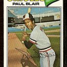 BALTIMORE ORIOLES PAUL BLAIR 1977 TOPPS # 313 good