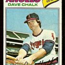 CALIFORNIA ANGELS DAVE CHALK 1977 TOPPS # 315 good
