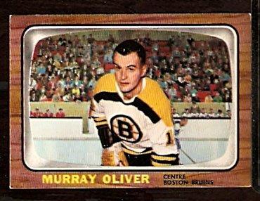BOSTON BRUINS MURRAY OLIVER 1966 TOPPS # 95 EX