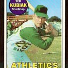OAKLAND ATHLETICS TED KUBIAK 1969 TOPPS # 281 VG/EX