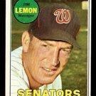 WASHINGTON SENATORS JIM LEMON 1969 TOPPS # 294 VG