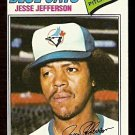 TORONTO BLUE JAYS JESSE JEFFERSON 1977 TOPPS 326 VG