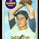 NEW YORK METS JIM McANDREW 1969 TOPPS # 321 EX MT