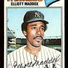NEW YORK YANKEES ELLIOT MADDOX 1977 TOPPS # 332 good