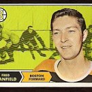 BOSTON BRUINS FRED STANFIELD 1968 TOPPS # 10 NR MT