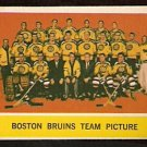 BOSTON BRUINS TEAM CARD 1963 TOPPS # 21 NR MT