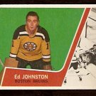 BOSTON BRUINS ED JOHNSTON ROOKIE CARD RC 1963 TOPPS # 2 EM+/NM