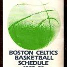 1982 BOSTON CELTICS LOWENBRAU WBZ-TV POCKET SCHEDULE