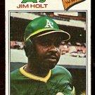 OAKLAND ATHLETICS JIM HOLT 1977 TOPPS # 349 VG