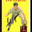BOSTON RED SOX TED LEPCIO AUTOGRAPHED 1958 TOPPS # 29