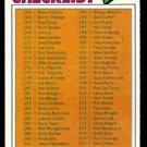 CHECKLIST 265-396 1977 TOPPS # 356 UNMARKED VG