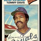 KANSAS CITY ROYALS TOMMY DAVIS 1977 TOPPS # 362 good