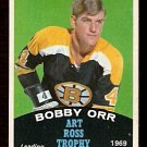 BOSTON BRUINS BOBBY ORR ART ROSS TROPHY 1970 OPC # 249 NM O PEE CHEE