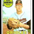 BALTIMORE ORIOLES GENE BRABENDER 1969 TOPPS # 393 EX+/EM