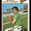 OAKLAND ATHLETICS MIKE TORREZ 1977 TOPPS # 365 VG