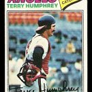 CALIFORNIA ANGELS TERRY HUMPHREY 1977 TOPPS # 369 G/VG