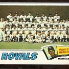 KANSAS CITY ROYALS TEAM CARD 1977 TOPPS # 371 good