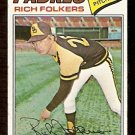 SAN DIEGO PADRES RICH FOLKERS 1977 TOPPS # 372 G/VG