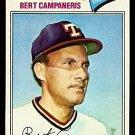 TEXAS RANGERS BERT CAMPANERIS 1977 TOPPS # 373