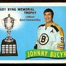 BOSTON BRUINS JOHNNY BUCYK LADY BYNG TROPHY 1971 OPC O PEE CHEE # 249 NM
