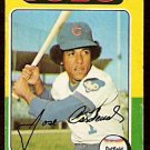 CHICAGO CUBS JOSE CARDENAL 1975 TOPPS # 15 good