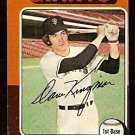 SAN FRANCISCO GIANTS DAVE KINGMAN 1975 TOPPS # 156 VG