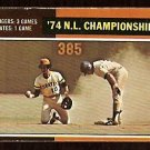 NLCS LOS ANGELES DODGERS STEVE GARVEY PITTSBURGH PIRATES 1975 TOPPS # 460 VG