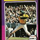 WORLD SERIES GAME 1 OAKLAND ATHLETICS REGGIE JACKSON 1975 TOPPS # 461 EX