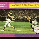 WORLD SERIES GAME 4 OAKLAND ATHLETICS 1975 TOPPS # 464 VG