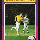 WORLD SERIES GAME 5 OAKLAND ATHLETICS JOE RUDI 1975 TOPPS # 465 VG