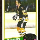 BOSTON BRUINS BRAD PARK 1980 TOPPS # 74 VG