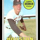 HOUSTON ASTROS LARRY DIERKER 1969 TOPPS # 411 EX